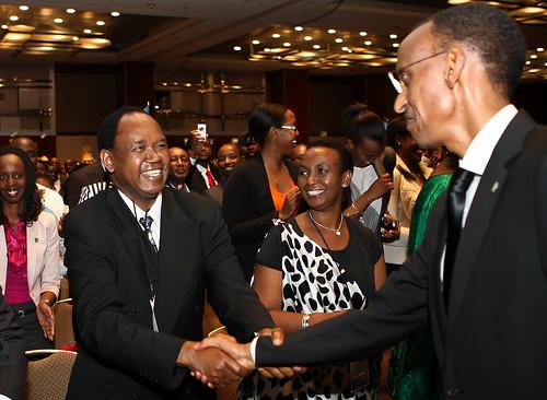 Dr Gasana, Nyakwigendera Ministre Inyumba na Perezida Kagame i Chicago