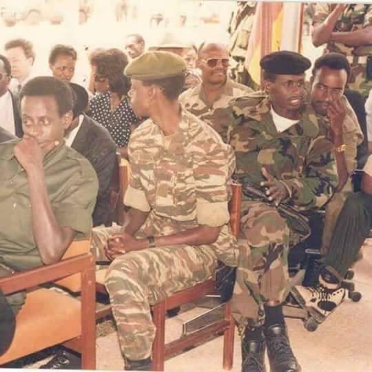 Bamwe mu basirikare bakuru ba FPR nka James Kabarebe, Caesar Kayizari, Charles Kayonga..