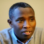 Jean Paul Turayishimye of Leominster gives his story on Friday about how he survived the genocide of Ruwanda while he served in the opposition forces, the Rwanda Patriotic Front, before escaping to the United States.SENTINEL & ENTERPRISE / BRETT CRAWFORD