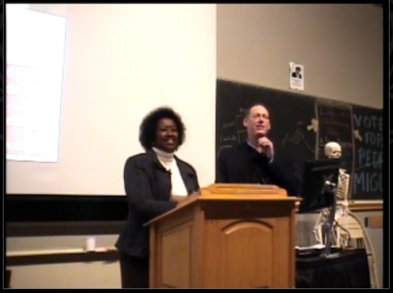 Dr Binagwaho na Dr Paul Farmer muri Harvard Medical School,