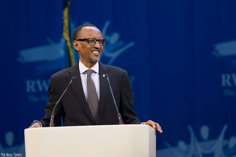 Photo : President Paul KAGAME in the Rwanda Day ,  Netherlands.