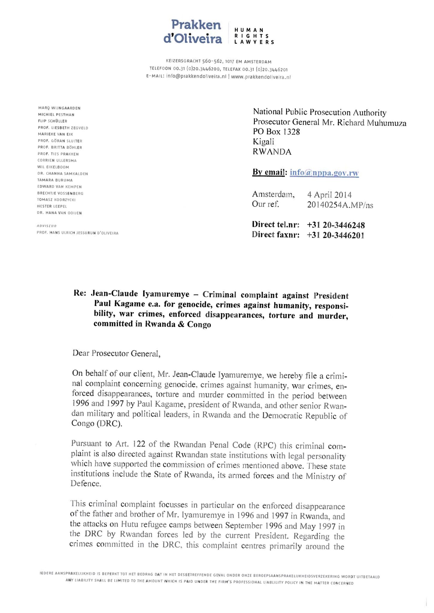 criminal-complaint-against-kagame-by-jean-claude-iyamuremye-page-001