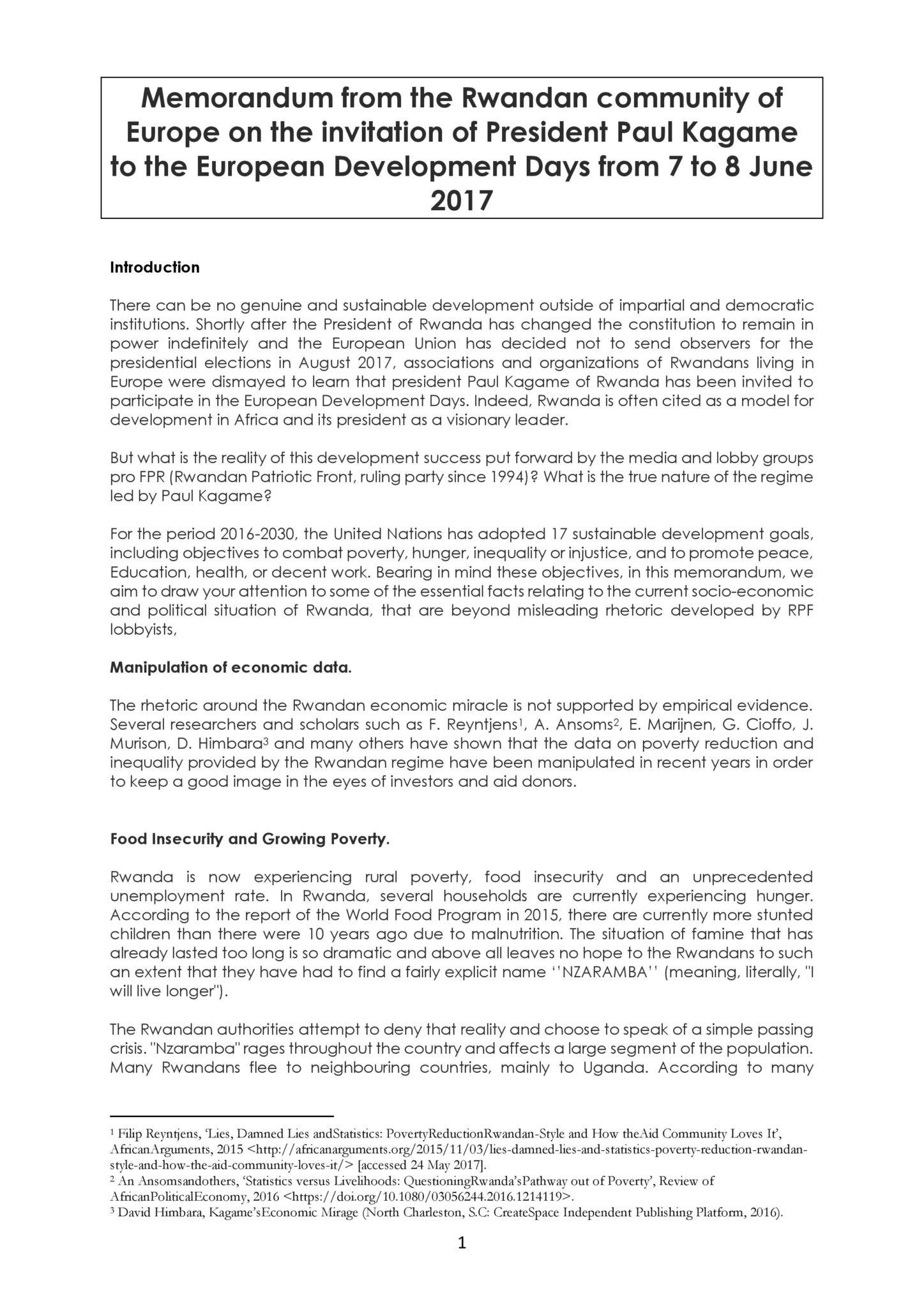 Memorandum from the rwandan community of europe on the invitation loading stopboris Images